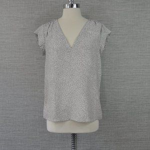 Joie Silk Grey Floral Top - XS